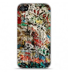 Coque en silicone Apple iPhone 4 / 4S - Graffiti 1