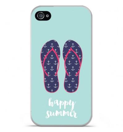 Coque en silicone Apple iPhone 4 / 4S - Happy summer