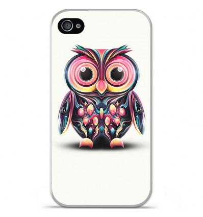 Coque en silicone Apple iPhone 4 / 4S - Hiboux coloré
