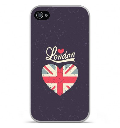 Coque en silicone Apple iPhone 4 / 4S - I love London