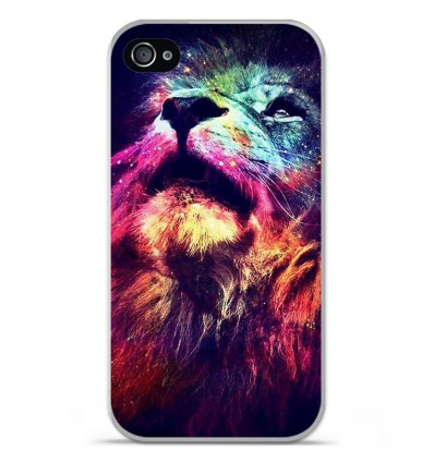 Coque en silicone Apple iPhone 4 / 4S - Lion swag