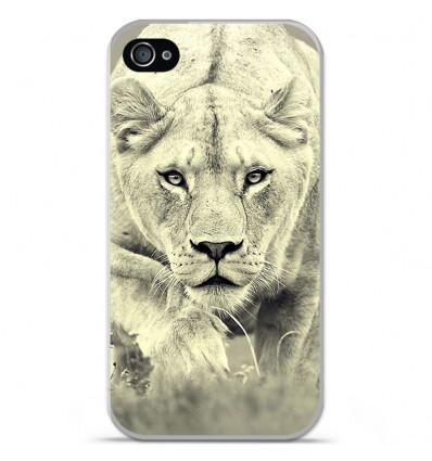 Coque en silicone Apple iPhone 4 / 4S - Lionne