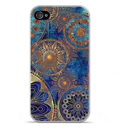 Coque en silicone Apple iPhone 4 / 4S - Mandalla bleu