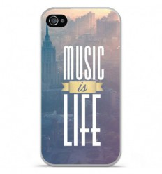 Coque en silicone Apple iPhone 4 / 4S - Music is life