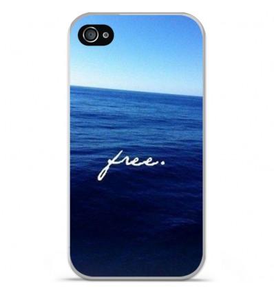 Coque en silicone Apple iPhone 4 / 4S - Océan free
