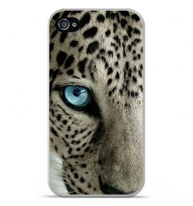 Coque en silicone Apple iPhone 4 / 4s - Oeil de léopard