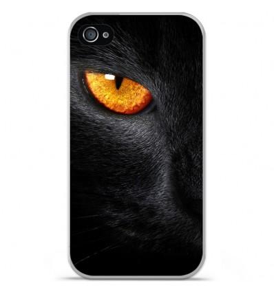 Coque en silicone Apple iPhone 4 / 4S - Oeil de Panterre