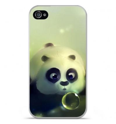 Coque en silicone Apple iPhone 4 / 4S - Panda Bubble