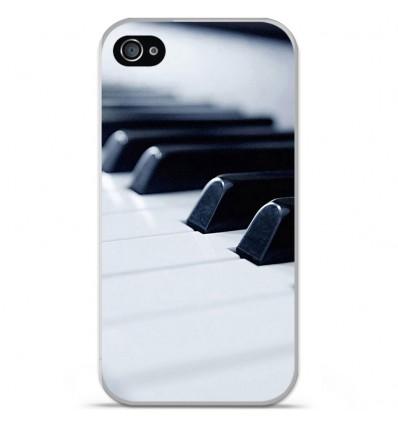 Coque en silicone Apple iPhone 4 / 4S - Piano