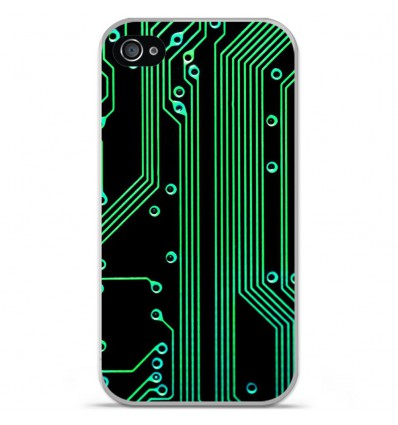 Coque en silicone Apple iPhone 4 / 4S - Texture circuit geek