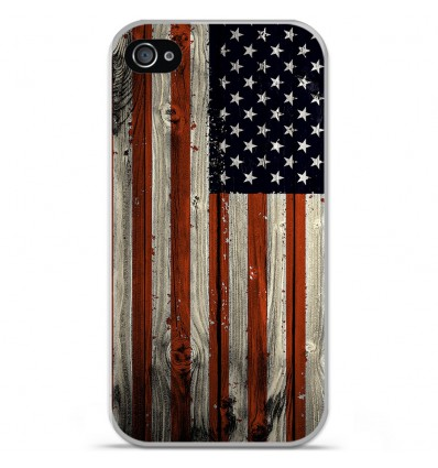 Coque en silicone Apple iPhone 4 / 4S - USA Hood