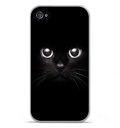 Coque en silicone Apple iPhone 4 / 4S - Yeux de chat