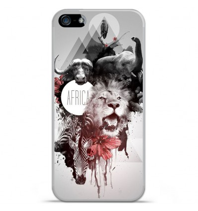 Coque en silicone Apple IPhone 5 / 5S - Africa Swag