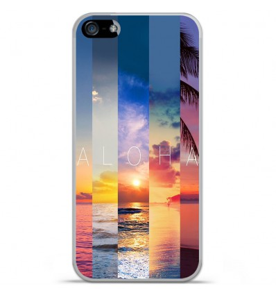 Coque en silicone Apple IPhone 5 / 5S - Aloha