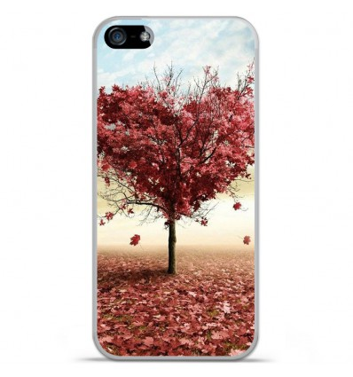 Coque en silicone Apple IPhone 5 / 5S - Arbre Love