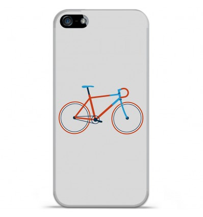 Coque en silicone Apple IPhone 5 / 5S - Bike color Hipster