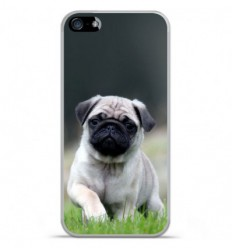 Coque en silicone Apple IPhone 5 / 5S - Bulldog français
