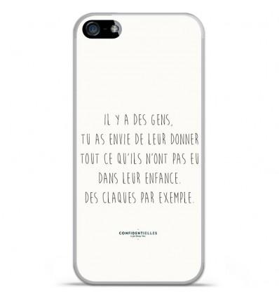 Coque en silicone Apple IPhone 5 / 5S - Citation 01