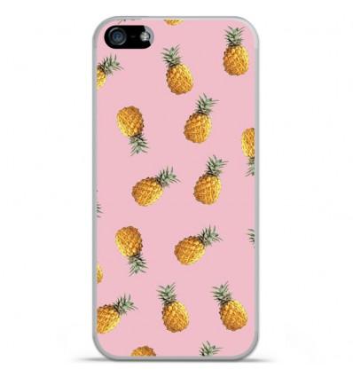 Coque en silicone Apple IPhone 5 / 5S - Pluie d'ananas