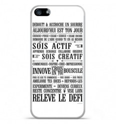 Coque en silicone Apple IPhone 5 / 5S - Citation 11