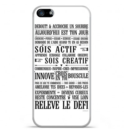 Coque en silicone Apple IPhone 5 / 5S - Citation 11