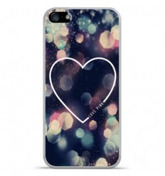 Coque en silicone Apple IPhone 5 / 5S - Coeur Love