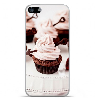 Coque en silicone Apple IPhone 5 / 5S - Cup Cake