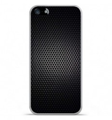 Coque en silicone Apple IPhone 5 / 5S - Dark Metal
