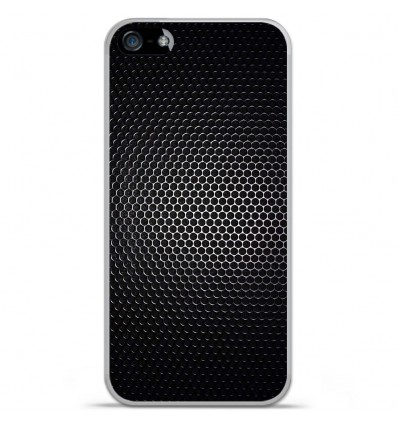 Coque en silicone Apple IPhone 5 / 5S - Dark Metal