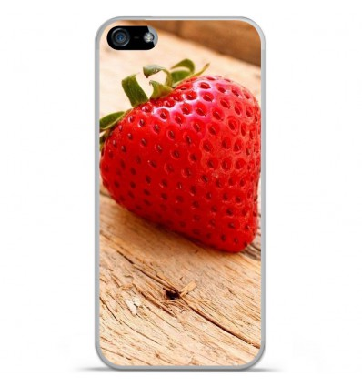 Coque en silicone Apple IPhone 5 / 5S - Envie d'une fraise