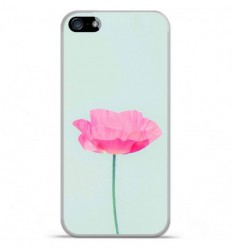 Coque en silicone Apple IPhone 5 / 5S - Fleur Rose