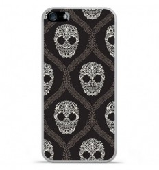 Coque en silicone Apple IPhone 5 / 5S - Floral skull