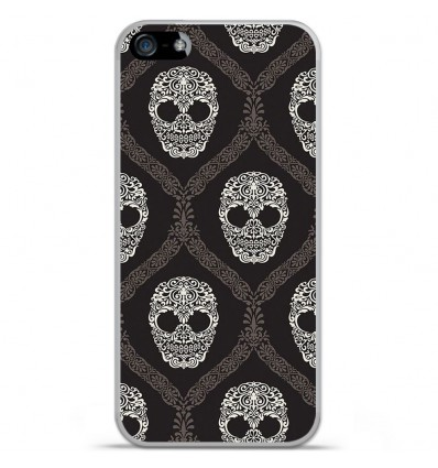 Coque en silicone Apple IPhone 5 / 5S - Floral skull