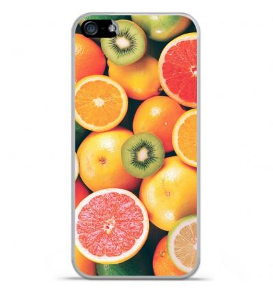 Coque en silicone Apple IPhone 5 / 5S - Fruits
