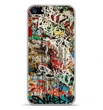 Coque en silicone Apple IPhone 5 / 5S - Graffiti 1