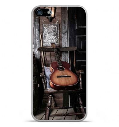 Coque en silicone Apple IPhone 5 / 5S - Guitare