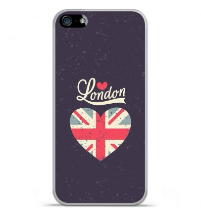 Coque en silicone Apple IPhone 5 / 5S - I love London