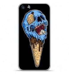 Coque en silicone Apple IPhone 5 / 5S - Ice cream skull