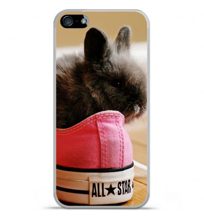 Coque en silicone Apple IPhone 5 / 5S - Lapin allstar