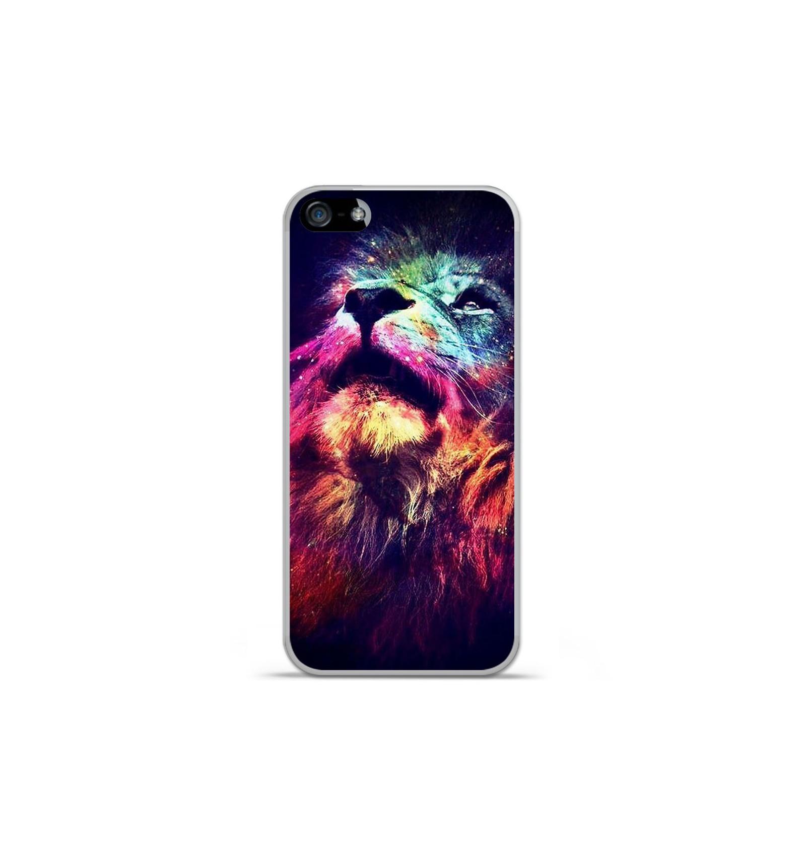 Coque en silicone Apple IPhone 5 / 5S - Lion swag