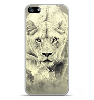 Coque en silicone Apple IPhone 5 / 5S - Lionne