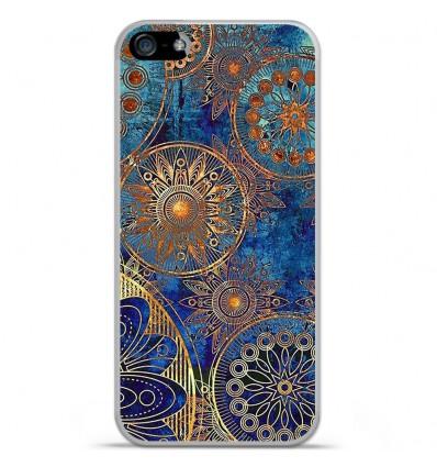 Coque en silicone Apple iPhone 5 / 5S - Mandalla bleu