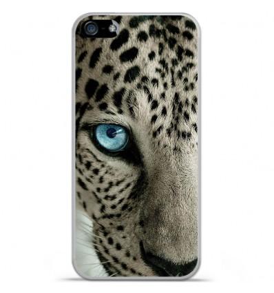 Coque en silicone Apple IPhone 5 / 5S - Oeil de léopard