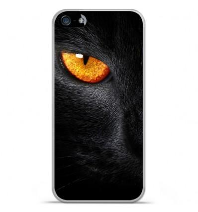 Coque en silicone Apple IPhone 5 / 5S - Oeil de Panterre
