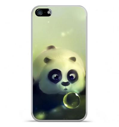 Coque en silicone Apple iPhone 5 / 5S - Panda Bubble