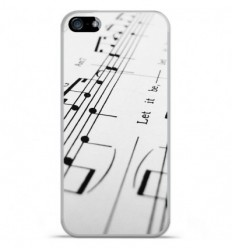 Coque en silicone Apple IPhone 5 / 5S - Partition de musique