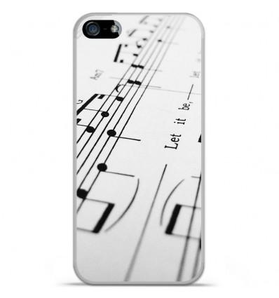 Coque en silicone Apple IPhone 5 / 5S - Partition de musique