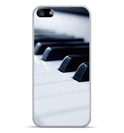 Coque en silicone Apple IPhone 5 / 5S - Piano