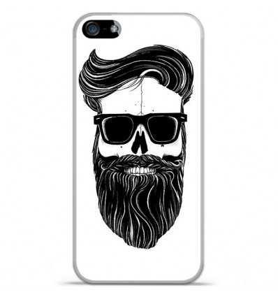Coque en silicone Apple IPhone 5 / 5S - Skull Hipster