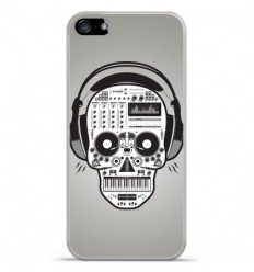 Coque en silicone Apple IPhone 5 / 5S - Skull Music